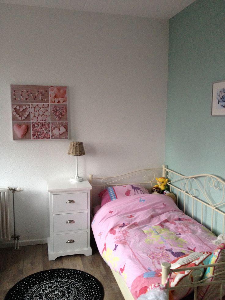 25 beste idee n over groene meisjes kamers op pinterest groene meisjes slaapkamers - Kamer wanddecoratie kind ...