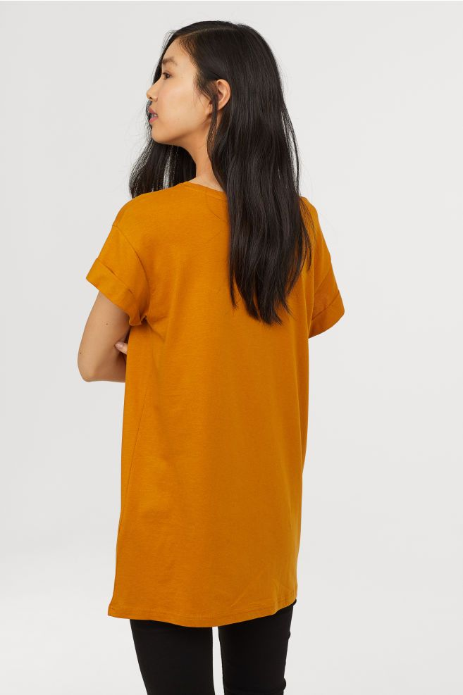 b89ba83469b Long T-shirt - Ocher - Ladies