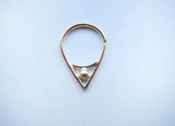 Divine : Gold Nose Ring .. Septum Jewelry .. 14k gold nose hoop .. Aprilsblissed .. Nosebling .. Unique Nose Ring .. Elegant Hoop