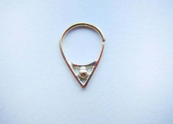 Divine : Gold Nose Ring .. Septum Jewelry .. 14k by aprilsblissed