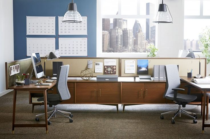 Mid-Century Benching - Benching Systems West Elm Workspace