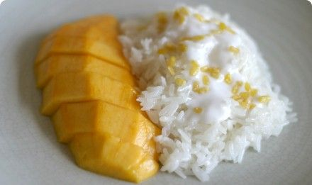 Thai - Make my own coconut sweet sticky rice dip and have mango dippers.