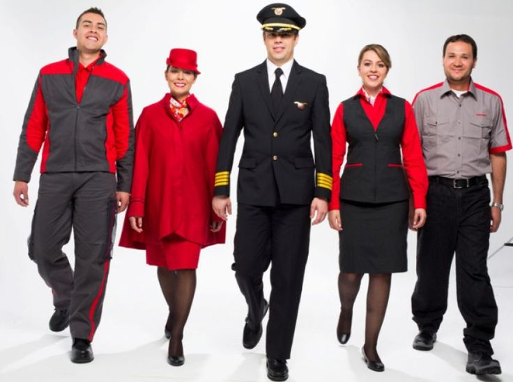 Avianca, ground staff, cabin crew, and captain.