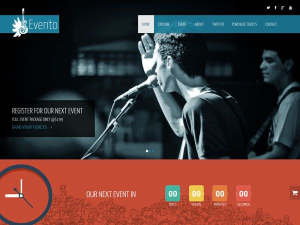 15 Free Music HTML Website Templates