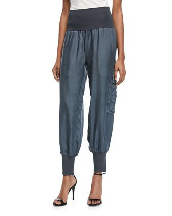 Tous+Les+Jours+Giles+Satin+Jogger+Pants++by+cinq+a+sept+at+Bergdorf+Goodman.