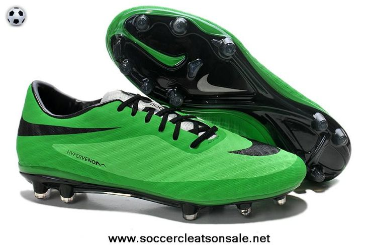 Fashion Nike HyperVenom Phantom FG Boots 2014 World Cup Green Black Football  Shoes On Sale