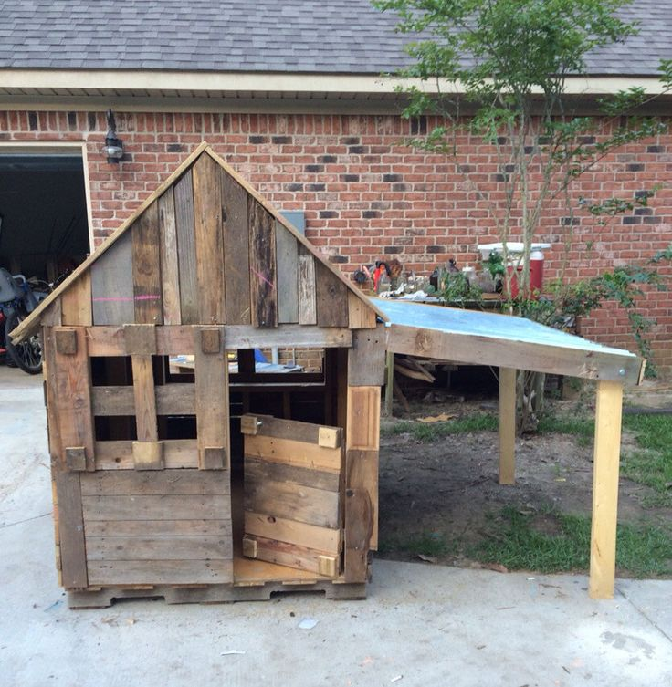 Children outdoor playhouse.  ,Recycled wood ,summer play, vintage,lawn and garden,girls,boys,children,toddlers ,toys,gift, dog house, pets by ShopSweetlySalvaged on Etsy
