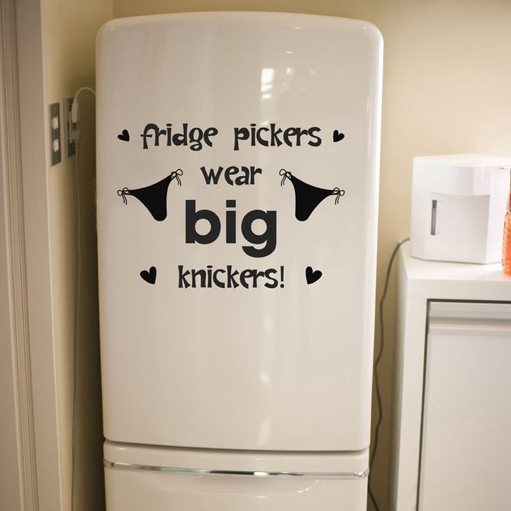 Fridge Sticker Funny Humorous Kitchen Dining Room Art Quote Decal Vinyl Transfer