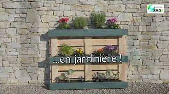 comment faire un potager vertical avec l 39 aide d 39 une palette youtube bonne id e pinterest. Black Bedroom Furniture Sets. Home Design Ideas