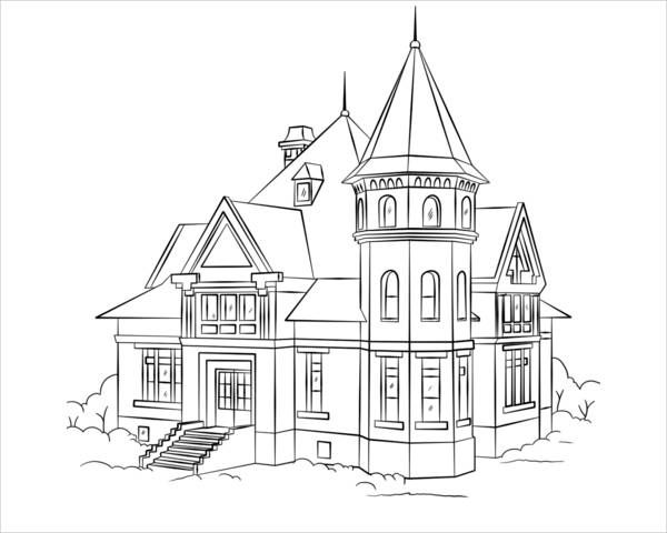 9 House Coloring Pages House Colouring Pages Coloring Pages