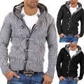 Carisma Men's cardigan sweater jumper 7013 Gray Black Darkgray