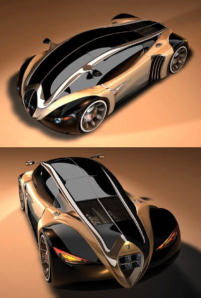 ♂ The Peugeot 4002 concept was designed by Stefan Schulze, the winner of an…