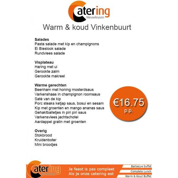 Catering Nieuwleusen Koud & Warm Buffet