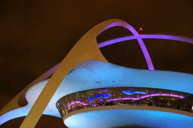 Spacey Design in the 1950s: LAX Theme Building designed by Paul Williams, Los Angeles airport