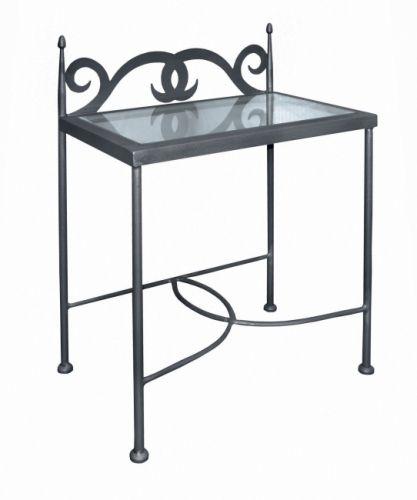 IRON-ART Nočný stolík CARTAGENA so sklom | matrace-vegas.sk