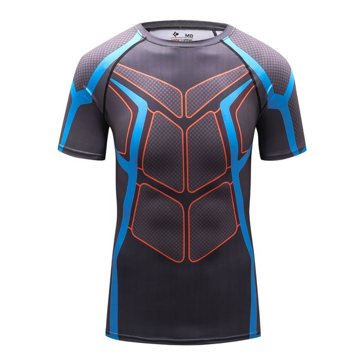2016 Wholesale new 3D printing T-shirt for male gym wear With the characters of man's clothing personality