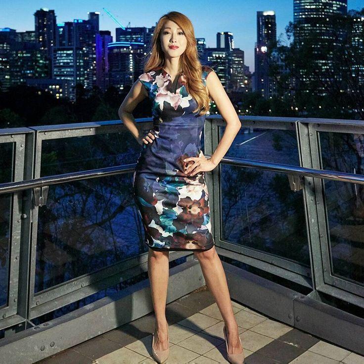@lovelyoony wearing the Sea Flower Scuba Dress #acstyle
