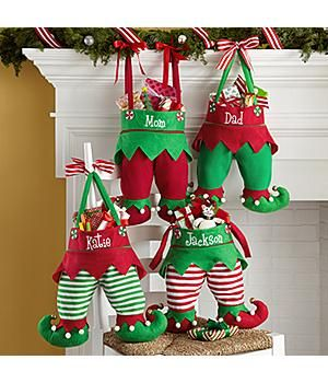 *New*– Personalized Jingle Bell Elf Pants Stocking Santa won't have trouble finding these elf-tacular stockings to fill with treats and toys! http://kittykatkoutique.com/new-personalized-christmas-stockings-2015/