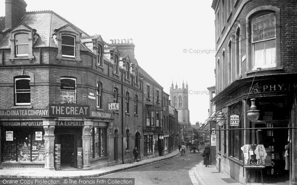 Glastonbury, St Benedict's Street 1909, from Francis Frith