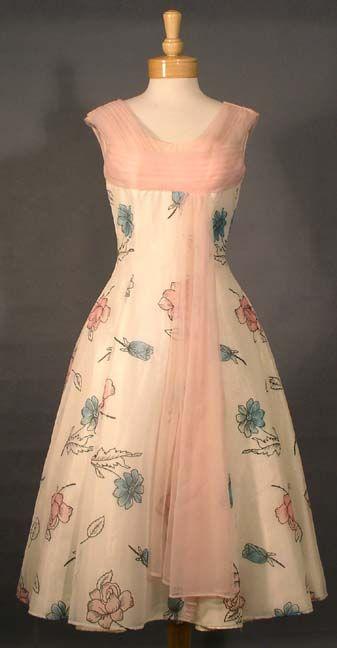 1950's Print with Chiffon Dress