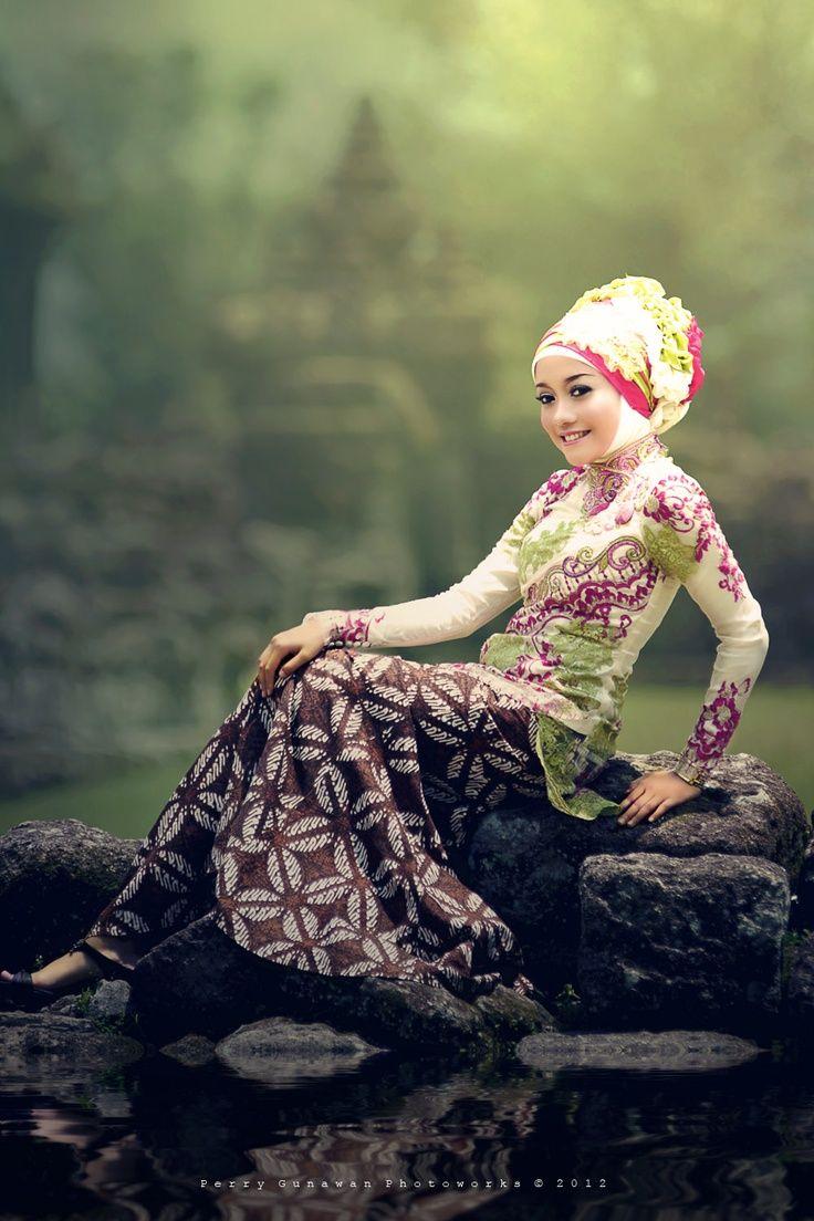 #hijab#muslimah fashion, Indonesian batik style