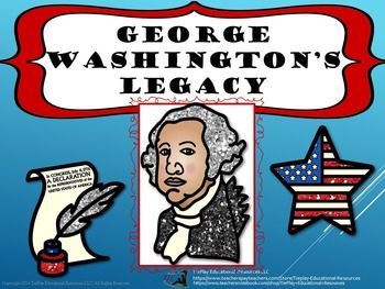 "$4.25  "" I was summoned by my county. In George Washington's Legacy, learners answer 46 questions after reading and participating in activities about George Washingtons  life, ideas and accomplishments. This lesson includes links to printer-friendly student newspaper about George Washington, 46 task cards, keys, 2 award cards, link to videos and more."