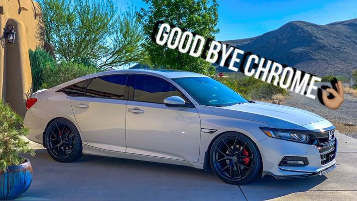 20182019 Accord Window Chrome Delete Crux Motorsports