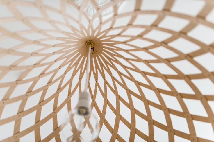 Design lamps made from birch thin plywood by Jaanus Orgusaar are filled with beautiful details.