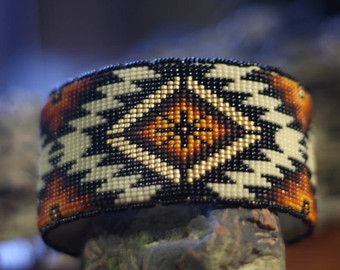 Native American Oglala Lakota handmade by WanbliHotaBeadwork                                                                                                                                                                                 More