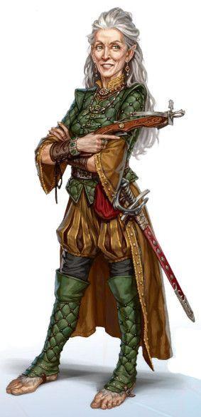 Vintra Marktunsel (N, halfling feminina, ladina 1/especialista 5): mestra sênior da Guilda Chicana de mercadores ribeirinhos.