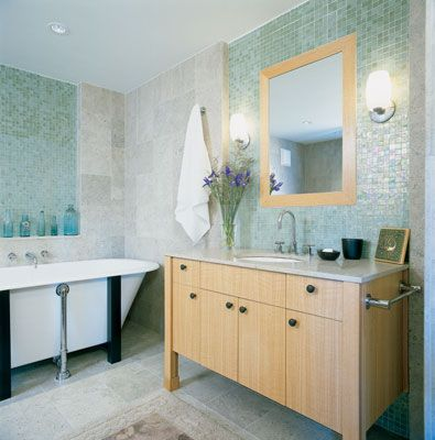 Ocean side glass tile in midora..love the sparkle it adds.