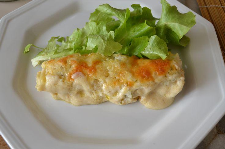 Canelone de frango com molho branco no dia 16/10/2011
