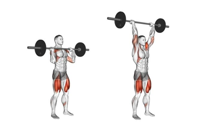 Image result for Barbell Overhead Press