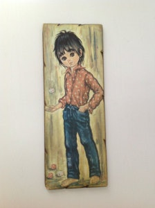 1970s decorative.  I had this picture and 1 of a little girl.  Forgot all about them