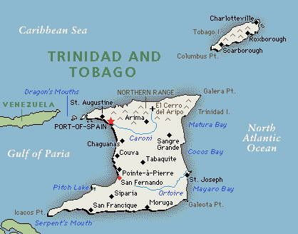 Trinidad & Tobago is located off the northeast coast of Venezuela. The countryconsists of two main islands, Trinidad and Tobago, and 21 smaller islands. Trinidad is the larger and more populous of the main islands and Tobago is much smaller, comprising about 6% of the total area and 4% of the population.