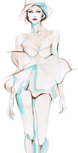 Alina Grinpauka | watercolour fashion illustration