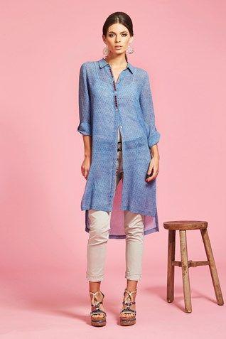 WATERCOLOUR SHIRT DRESS