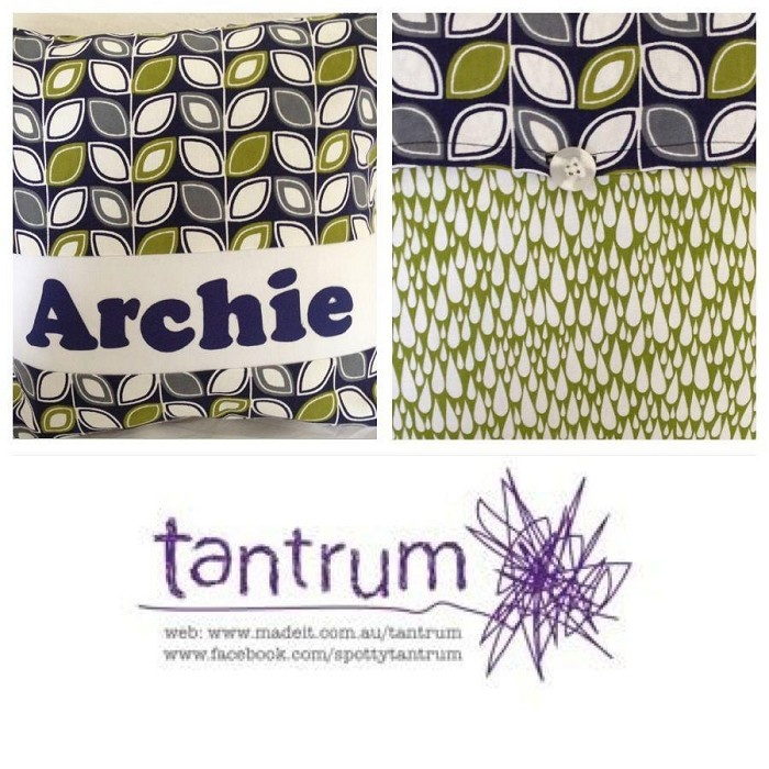 Personalised cushion (with insert) - by Tantrum on madeit