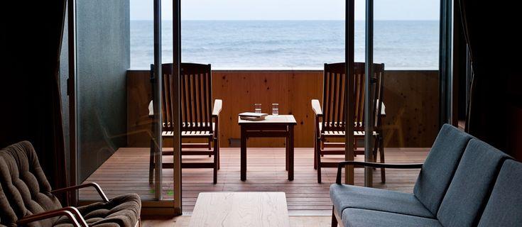 《 大洗 》里海邸 東京都心よりアクセス90分。気忙しい暮らしを「ひとやすみ」するための海辺の別邸。茨城県大洗町の高級旅館
