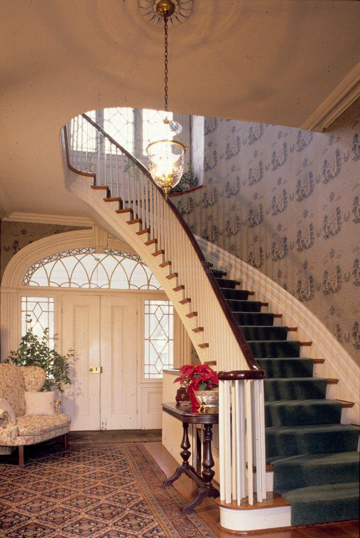 23 best b b images on pinterest antebellum homes victorian interior with stairway eaton place 1843 warrenton north carolina