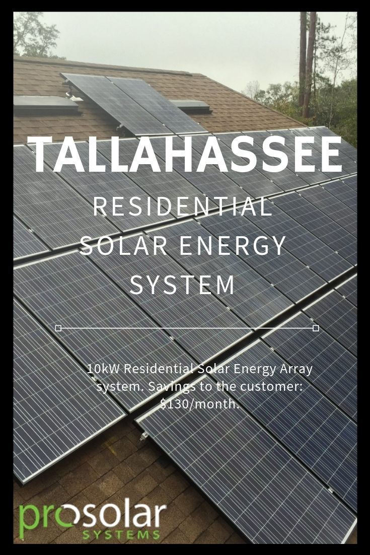 Tallahassee Residential Solar Power Florida Em 2020