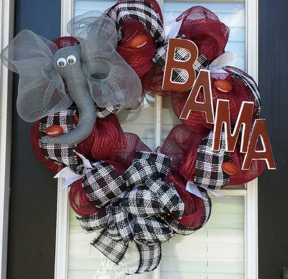 22 Alabama Wreath by WreathsandCraftsbyDW on Etsy, $60.00