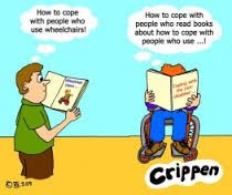 Image result for social model of disability cartoon