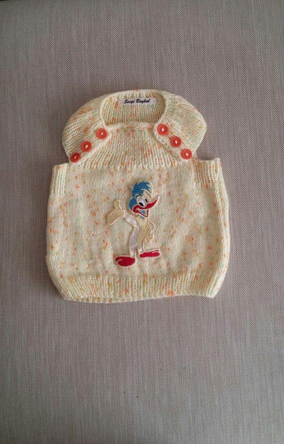 Knit baby vest by NORTHsKNITTINGs on Etsy