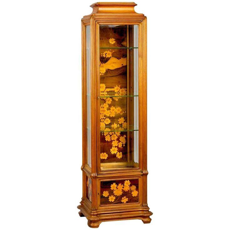 modern art nouveau furniture. emile gall an art nouveau mahogany vitrine modern furniture