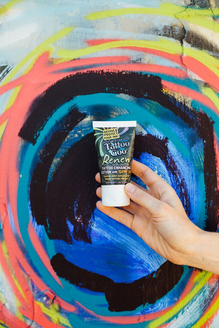 To keep your healed tattoo vibrant, you'll need consistent sun protection. Tattoo Goo Renew with SPF30+ has you covered.