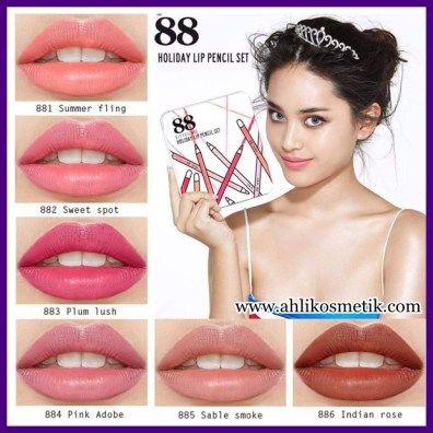 5.Amazing! Bibir seksi pakai 88 Holiday Lip Pencil