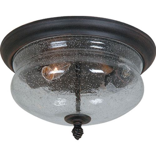 Premiere Bronze Two Light Outdoor Flush Mount Artcraft Flush Mount Outdoor Ceiling Lightin