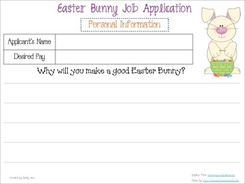 Easter Bunny Application: Easter Bunnies, Bunnies Application, Easter Bunny