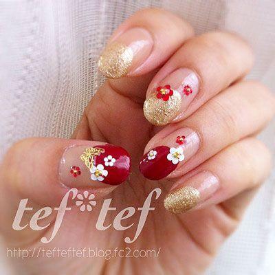 みんな大好きお花柄♡ 新春から春にかけて楽しみたい花柄のネイルデザインを集めてみました☆
